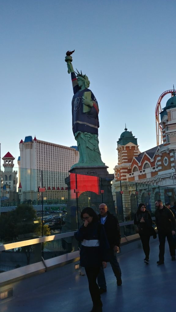 Las Vegas Statue of Liberty with Black Knights shirt