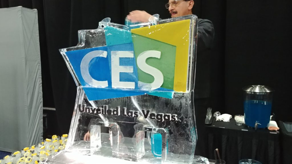 CES Unveiled 2019 Ice sculpture