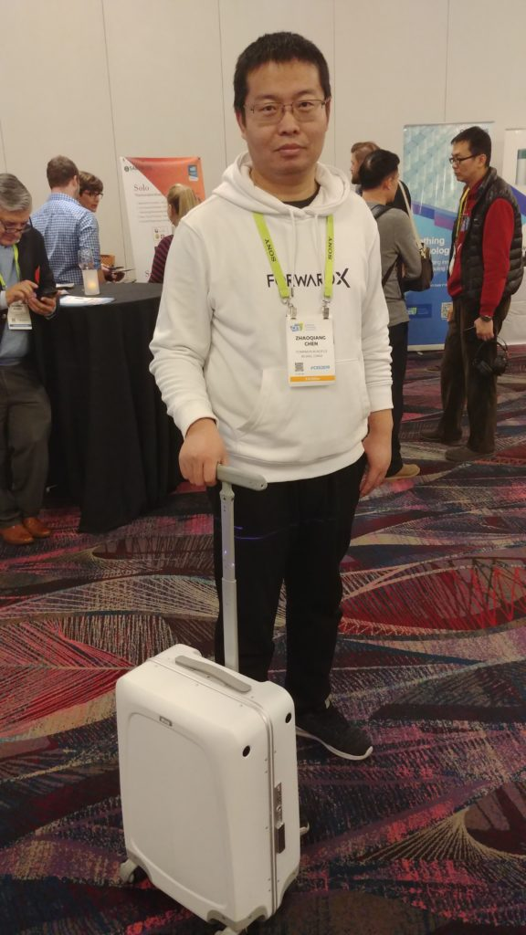 Forward X Suitcase at Made in China CES 2019