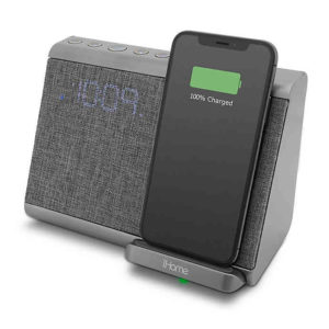 iHome wireless(Qi) charging Bluetooth alarm clock