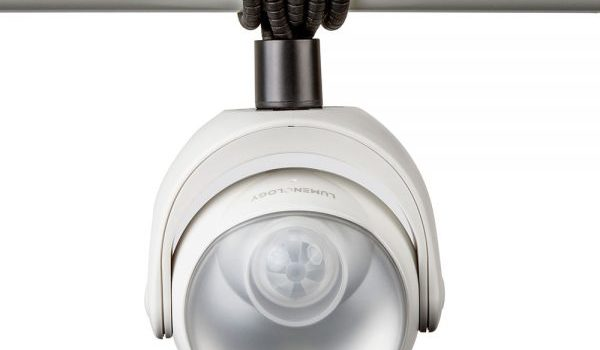 Picture of the Lumenology Motion Sensor Wireless light mounted on pole